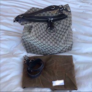Gucci Large Hobo Handbag Purse w Strap